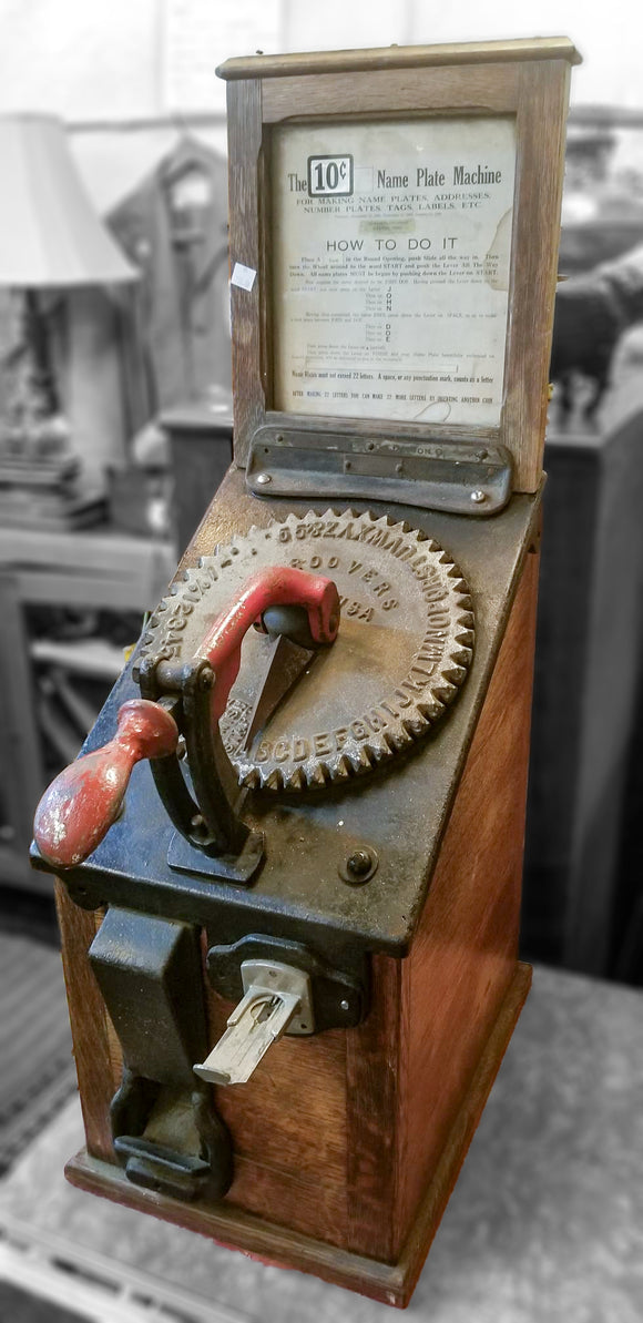 1800s Antique Name Press