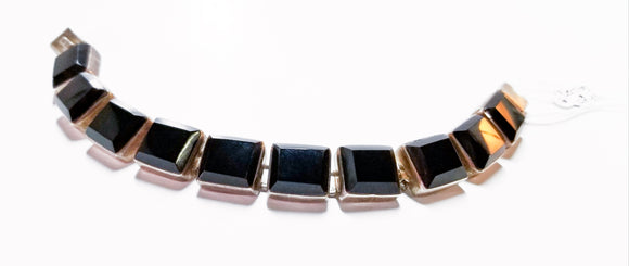 Rectangular Sterling and Onyx Bracelet
