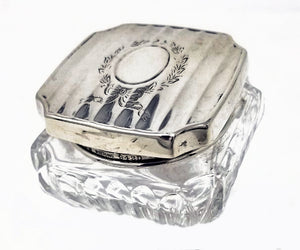 Square Sterling topped jar
