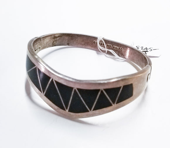 Sterling and Onxy Cuff Bracelet