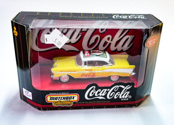 Yellow Matchbox Coca-cola Car