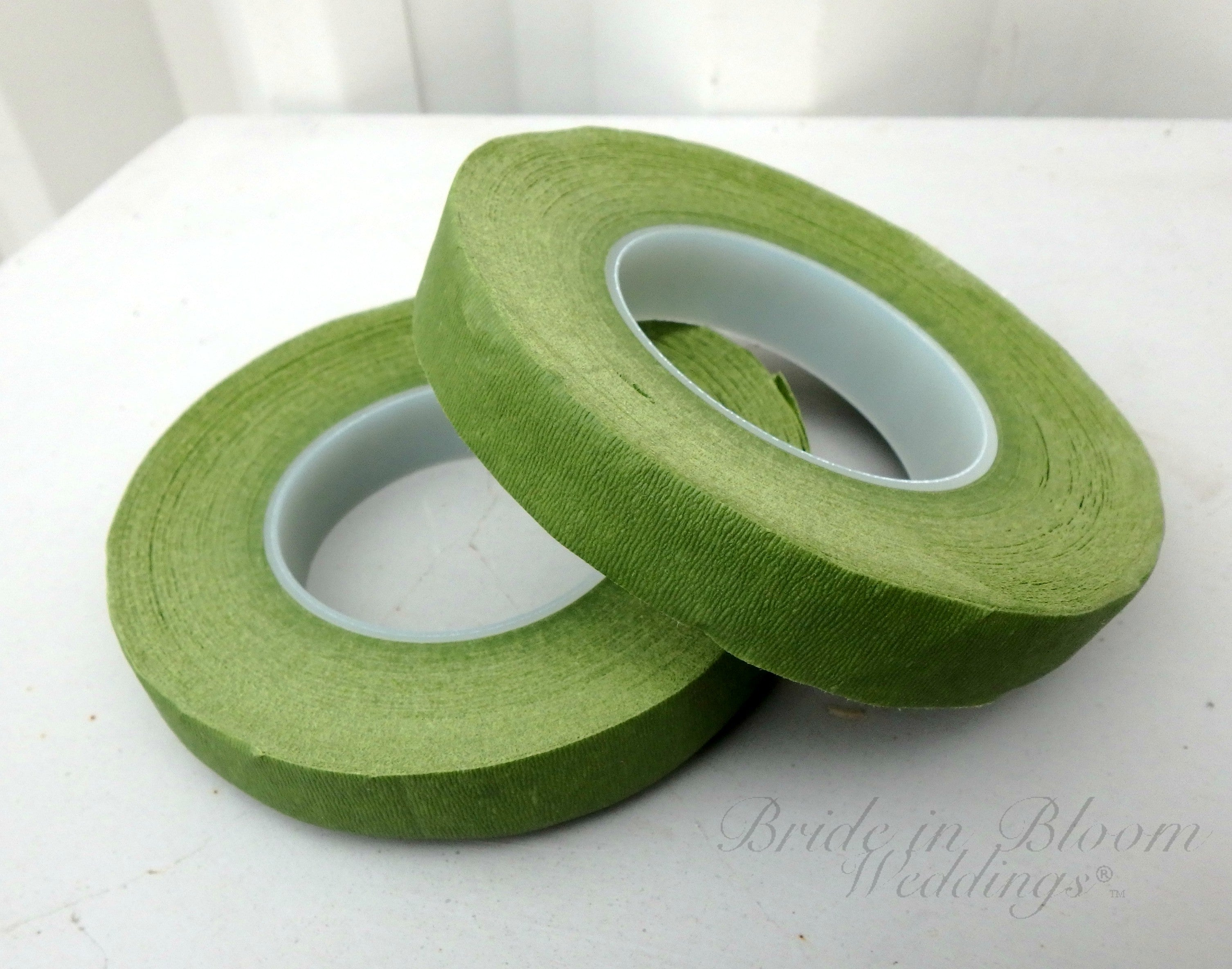 "Florist tape green 1/2""W By 30 yards, DIY wedding supplies"