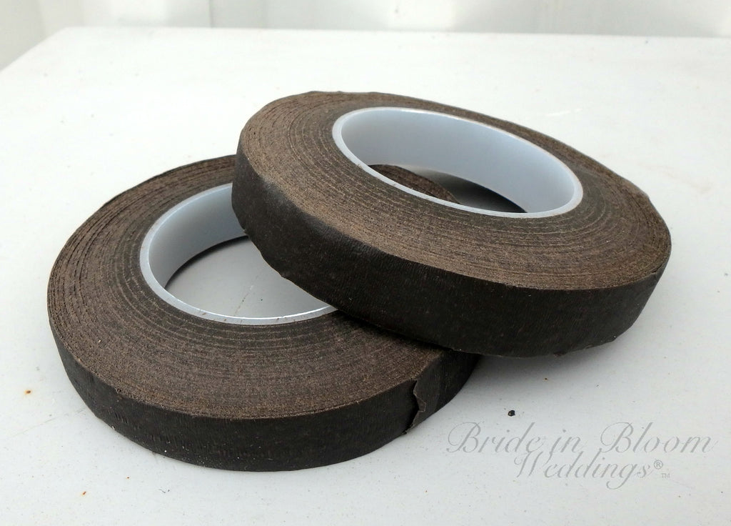 "Florist tape, brown 1/2""W By 30 yards, DIY wedding supplies"