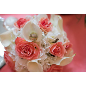 Coral and Cream Wedding bouquet - DIY Wedding bouquet package with tutorial