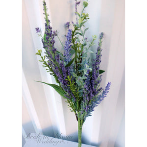 Lavender eucalyptus Stem, Artificial dried flowers, DIY Silk flowers