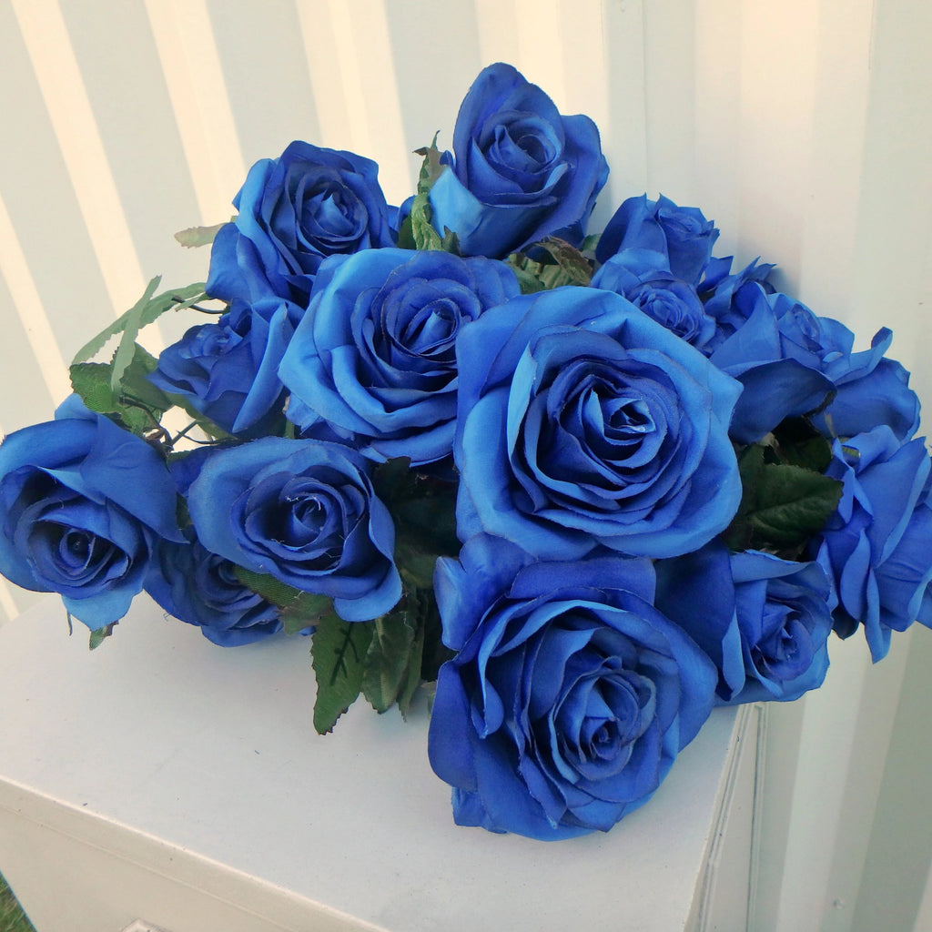 Royal blue roses