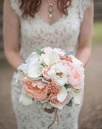Peony Wedding bouquet - Boho Bridal bouquet - Rustic bouquet - Silk wedding flowers