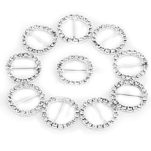 10pcs /set Rhinestone Buckle, DIY Wedding Invitations Bouquet decoration, DIY wedding supplies