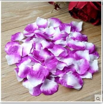 Romantic silk Rose petals for Wedding Decoration - 2000 piece/lot 5*5cm DIY Wedding Supplies