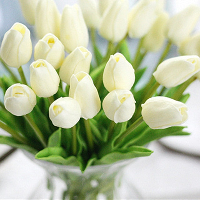 Tulips Artificial Flowers, Real touch tulip, 1pc for DIY Wedding Flowers, Home decor