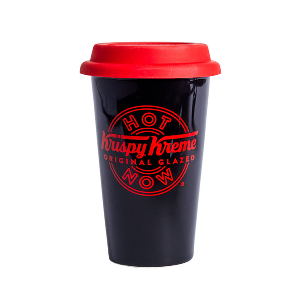 "Krispy Kreme 12oz ""Hot Now"" Ceramic Tumbler"