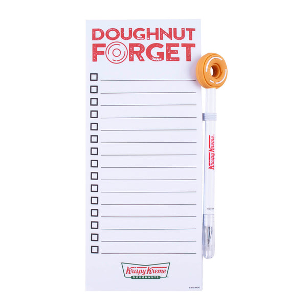 Krispy Kreme Doughnut Forget Notepad and Pad Set