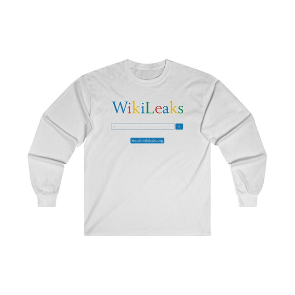 WikiLeaks Search - Unisex Long Sleeve Tee - WikiLeaks Shop EU