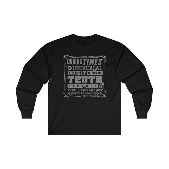 Orwell Quote - Unisex Long Sleeve Tee - WikiLeaks Shop EU