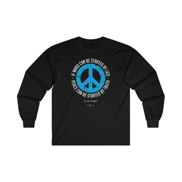 Peace can be Started by Truth - Unisex Long Sleeve Tee - WikiLeaks Shop EU