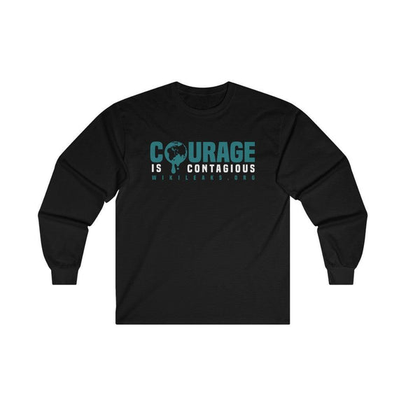 Courage is Contagious WikiLeaks.org - Unisex Long Sleeve Tee - WikiLeaks Shop EU