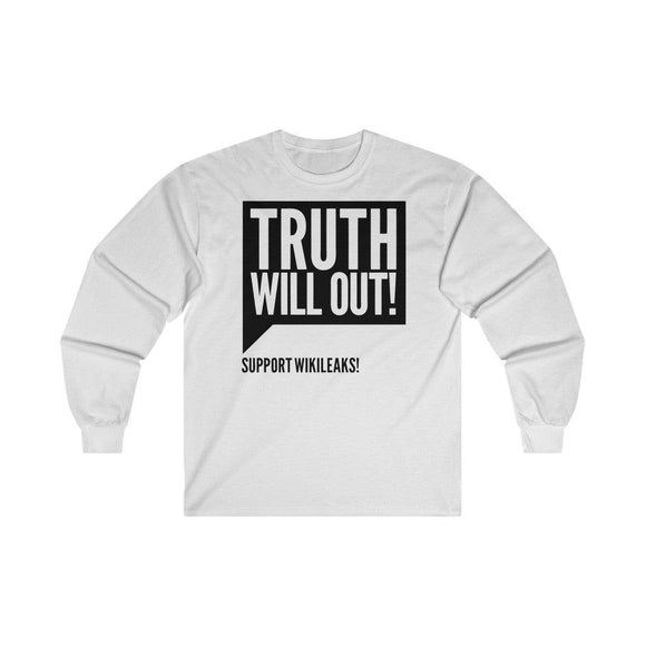 Truth Will Out! - Unisex Long Sleeve Tee - WikiLeaks Shop EU