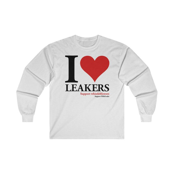I Love Leakers - Unisex Long Sleeve Tee - WikiLeaks Shop EU