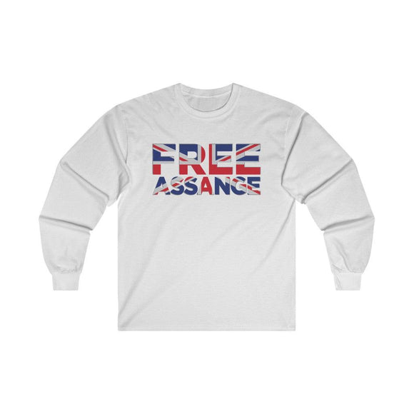 Free Assange Union Jack - Unisex Long Sleeve Tee - WikiLeaks Shop EU