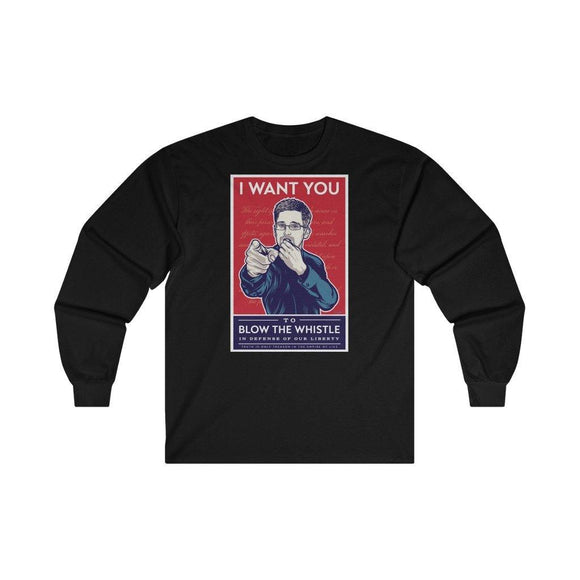 Blow The Whistle - Unisex Long Sleeve Tee - WikiLeaks Shop EU