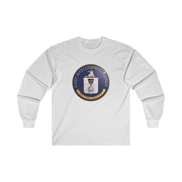 First Intelligence Agency of the People - Unisex Long Sleeve Tee - WikiLeaks Shop EU