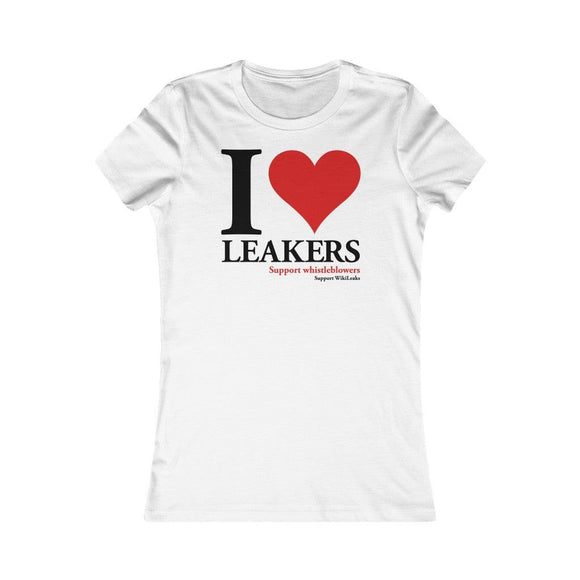 I love Leakers - Women's Slim Tee