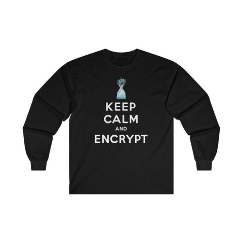 Keep Calm and Encrypt - Unisex Long Sleeve Tee - WikiLeaks Shop EU