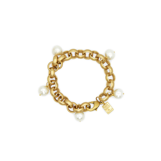 Turkish Gold Pearl Bracelet