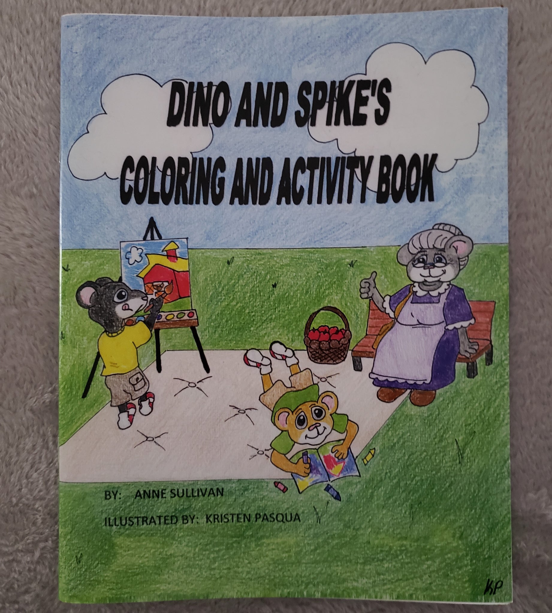 Dino and Spike's Coloring and Activity Book