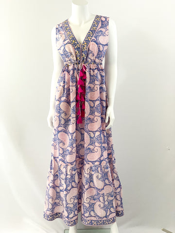 Emily Dress, Jacaranda Paisley Print
