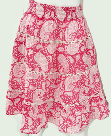 Palace Skirt - Pink -or- Navy Paisley