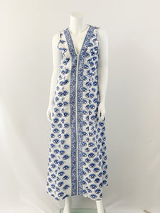 Dharma Maxi Dress - Jacaranda & Navy Eye