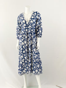 Water Mill Dress in Navy Floral