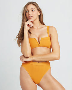LSPACE Pointelle Orange Rib separates