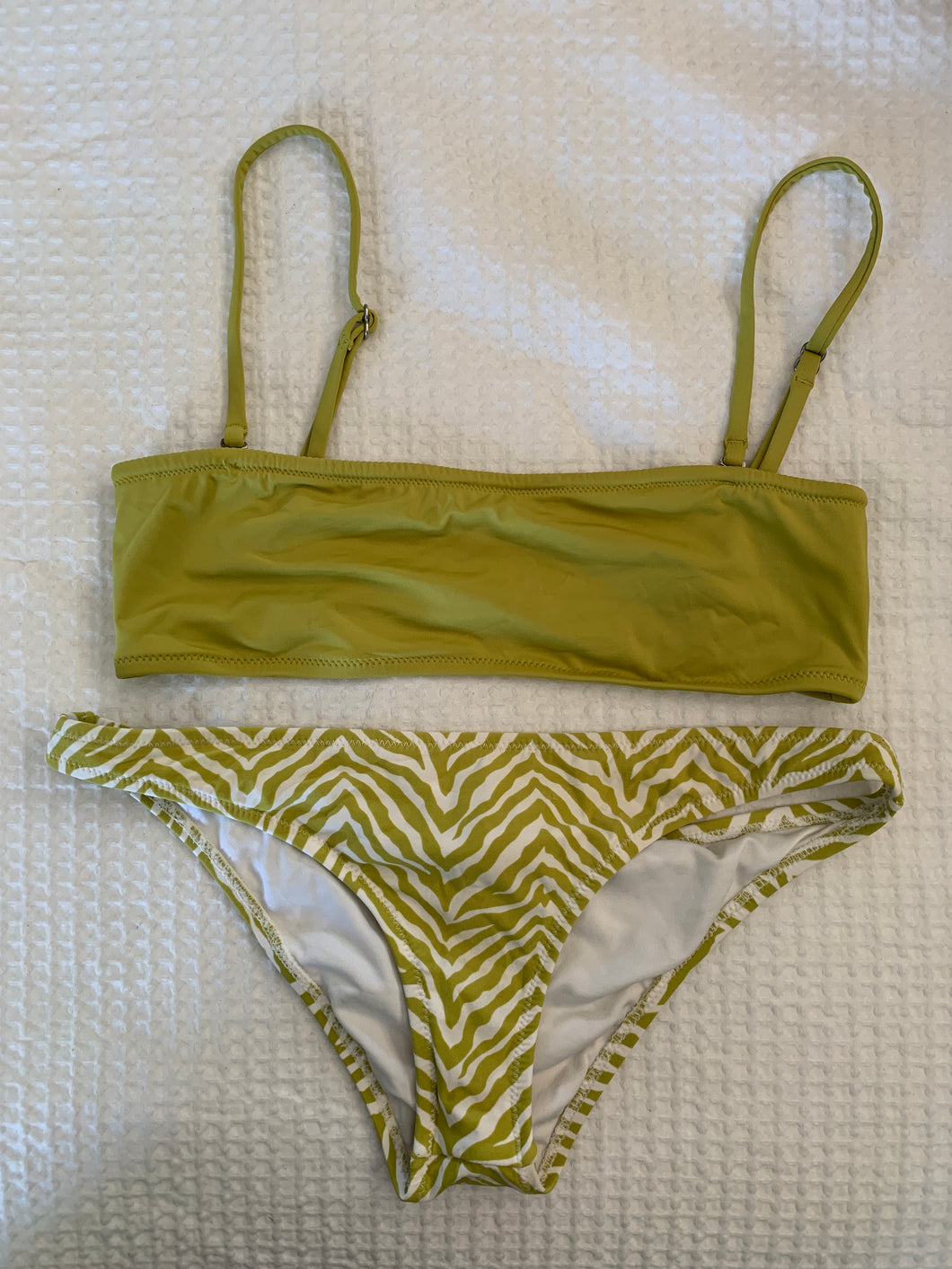 Rhythm green bandeau top