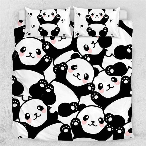 Pandalicious Quilt Cover Set-Pandalicious-Little Squiffy