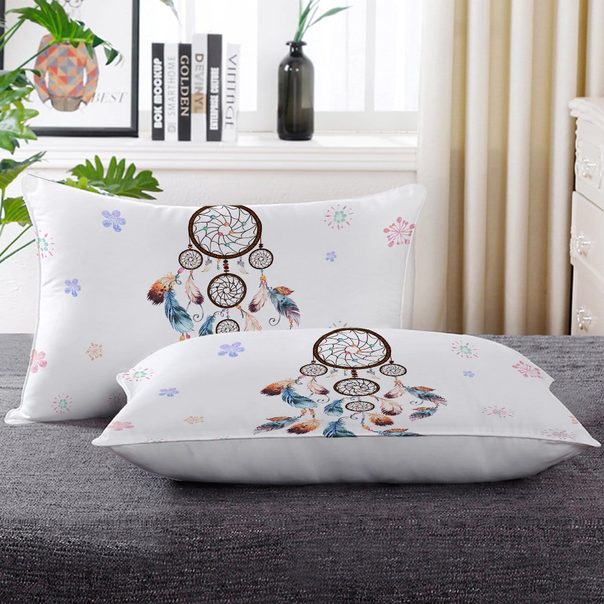 Boho Dreamcatcher Pillow Cases-Little Squiffy