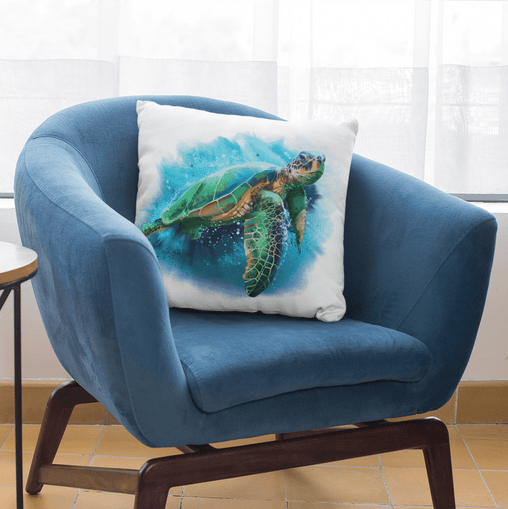 Queen Of Turtles Cushion Cover