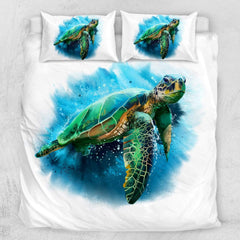 Queen Of Turtles Quilt Cover Set