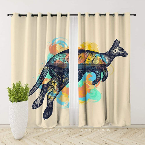 Outback Kangaroo Curtain Set
