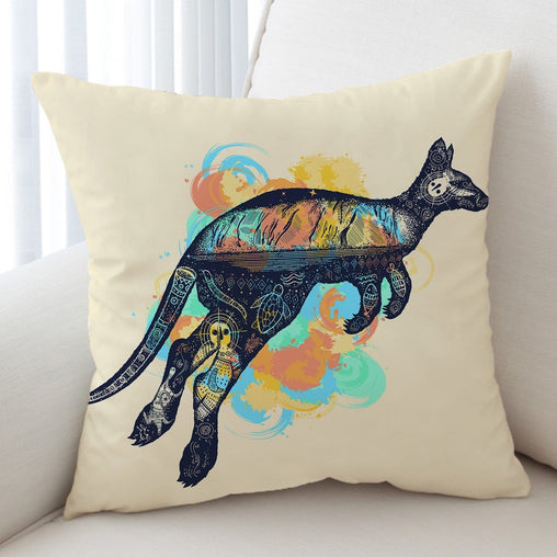 Outback Kangaroo Cushion Cover