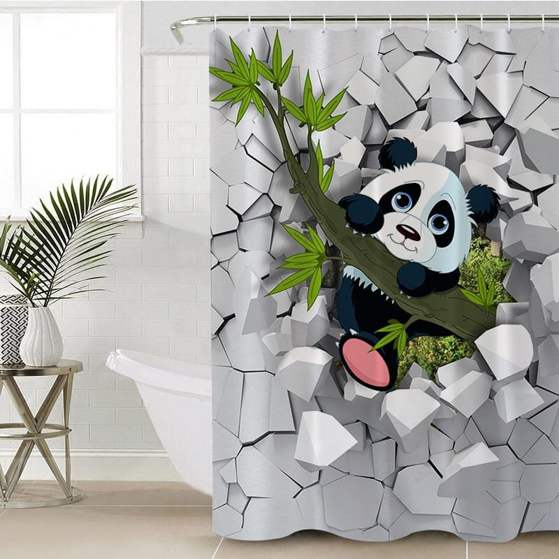 Baby Panda Shower Curtain-Baby Panda-Little Squiffy