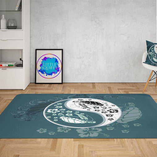 Yin Yang Sea Turtles Mat-Yin Yang Sea Turtles-Little Squiffy