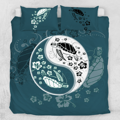 Yin Yang Sea Turtles Quilt Cover Set-Yin Yang Sea Turtles-Little Squiffy