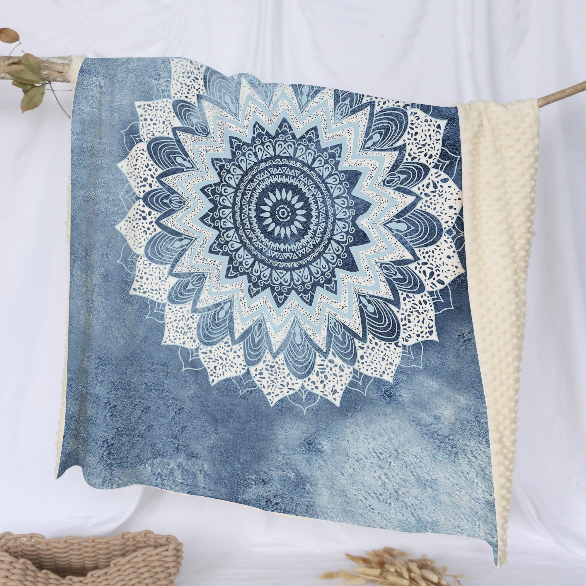 Atlantic Breeze Mandala Deluxe Minky Blanket-Atlantic Breeze Mandala-Little Squiffy