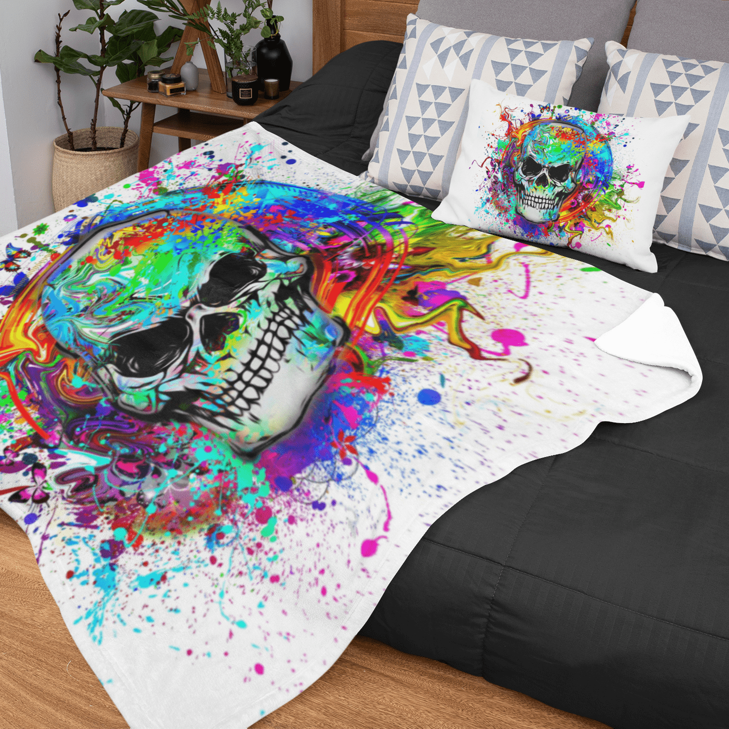 Skull Of Eternity Squiffy Minky Blanket-Skull Of Eternity-Little Squiffy