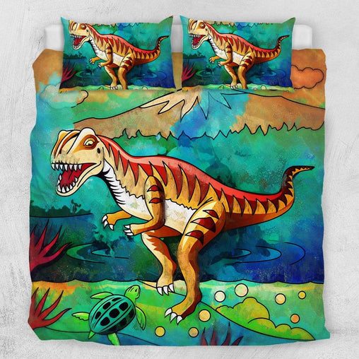 Dinosaur Stomp Quilt Cover Set-Dinosaur Stomp-Little Squiffy