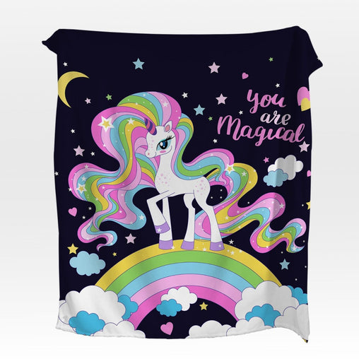 You Are Magical Unicorn Squiffy Minky Blanket-You Are Magical Unicorn-Little Squiffy