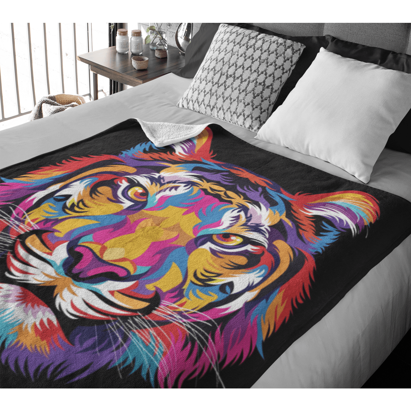 Bright Tiger Squiffy Minky Blanket-Bright Tiger-Little Squiffy