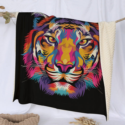 Bright Tiger Deluxe Minky Blanket-Bright Tiger-Little Squiffy